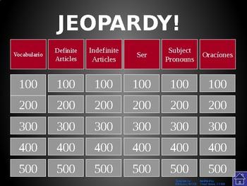 Buen Viaje - Level 1 Chapter 1 Jeopardy Review