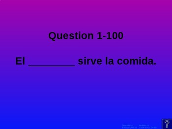Buen Viaje Level 1 - Chapter 14 Jeopardy Review