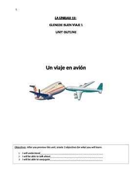 Buen Viaje Level 1 Unit 11 Skeletal Notes (Air Travel Vocab&Irregular Preterite)