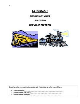 Buen Viaje Level 2 Unit 1 Skeletal Notes (Train vocab & Irregular Preterite)