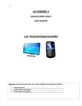 Buen Viaje Level 2 Unit 3 Skeletal Notes (Vocab Technology