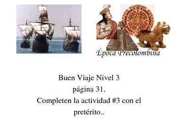 Buen Viaje Nivel 3 pg 31 Actividad 3