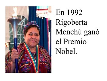 Buen Viaje textbook/ Rigoberta Menchú