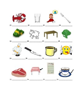 Buen viaje 2 Chapter 2 Vocabulary Identification Practice/Quiz