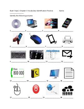 Buen viaje 2 Chapter 3 Vocabulary Identification Practice/Quiz