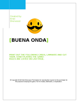 Buena Onda-A card game to get your students speaking Spanish