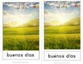 Buenos Dias/Tardes/Noches 3-part Matching Flashcards