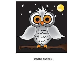 Buenos Dias and Buenas Noches Spanish greetings Elementary grades