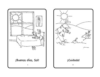 Buenos días Greetings Spanish Printable Minibook