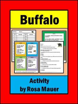 Buffalo Nature's Children Task Cards