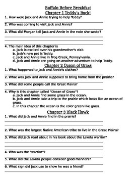 Buffalo Before Breakfast Comprehension Packet