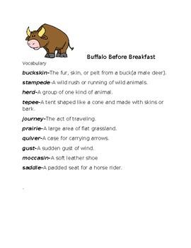 Buffalo Before Breakfast Vocabulary