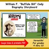 Buffalo Bill Cody - Storyboard Biography Printable PDF and