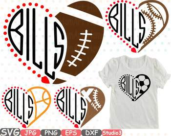 Buffalo Bills clipart NFL nba mlb ncaaf sports School svg Sayings sport 721s