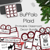 Buffalo Check (Buffalo Plaid) Classroom Decor