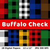 Buffalo Check Digital Paper, Buffalo Plaid, Lumberjack Scrapbook