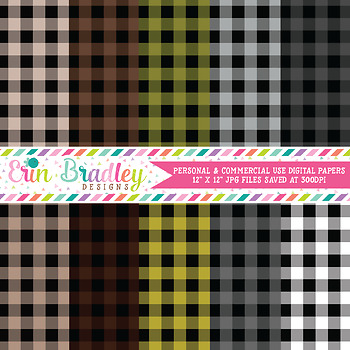 Buffalo Check Digital Paper Pack - 40 Colors - Set 2