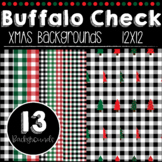 Buffalo Check Plaid Backgrounds- Christmas Holiday Backgrounds