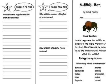 Buffalo Hunt Trifold - Imagine It 5th Grade Unit 5 Week 1
