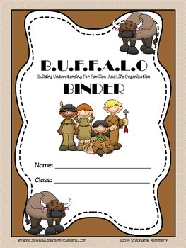 Buffalo {Native American} Binder Cover