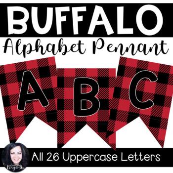 Buffalo Check Plaid ABC Pennant Banner