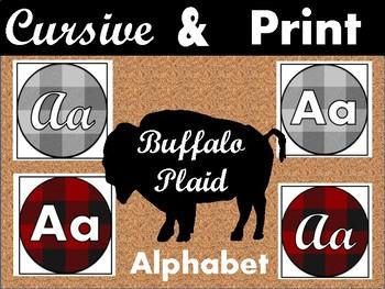 Buffalo Plaid Alphabet