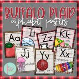Buffalo Plaid Alphabet Posters