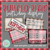 Buffalo Plaid Birthday Display (Editable)