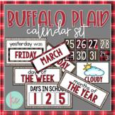 Buffalo Plaid Calendar Set