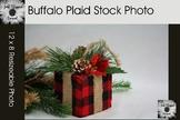 Buffalo Plaid Christmas Gift Stock Photo Background