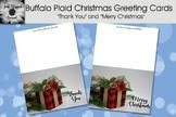 Buffalo Plaid Christmas Greeting Cards