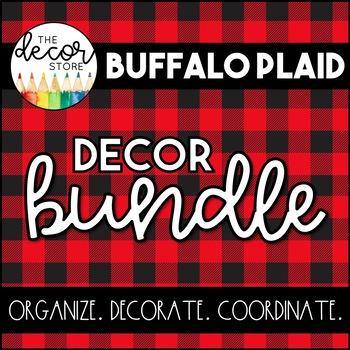 Buffalo Plaid Classroom Decor