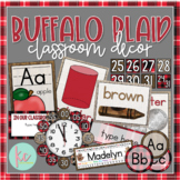 Buffalo Plaid Classroom Decor Bundle