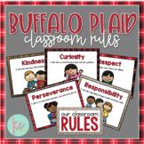 Buffalo Plaid Classroom Rules, Primary