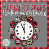 Buffalo Plaid Clock Minute Labels