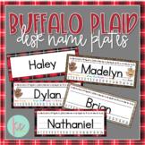 Buffalo Plaid Desk Name Plates (Editable)