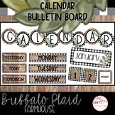 Buffalo Plaid Farmhouse - Calendar Bulletin Board