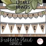 Buffalo Plaid Farmhouse - Editable Banners