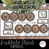 Buffalo Plaid Farmhouse - Editable Word Wall
