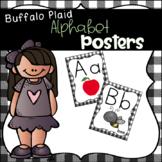 Buffalo Plaid Farmhouse Themed Alphabet Posters
