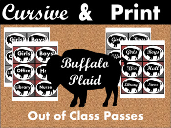Buffalo Plaid Hall Pass Set