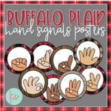 Buffalo Plaid Hand Signals Posters (Editable)