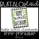Buffalo Plaid Home Sweet Classroom Sign