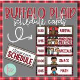 Buffalo Plaid Schedule Cards