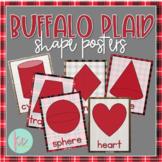 Buffalo Plaid Shape Posters (2D and 3D)