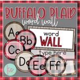 Buffalo Plaid Word Wall (Editable)