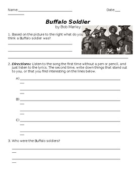 Buffalo Soldier Activity