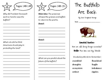 200cbd6a186 Buffalo are Back Trifold - Wonders 4th Grade Unit 2 - Independent ...