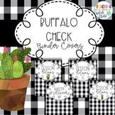 Buffalo check plaid and cactus farmhouse binder covers EDITABLE