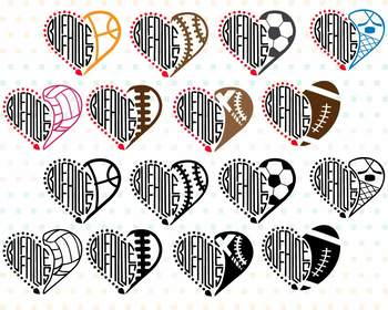 Buffaloes Sport Heart SVG high School Mascot football Colorado SVG 972S